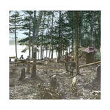 New York State (United States), Trappers at Blue Mountain Lake, 1872 Photographic Print by Levy et Fils, Leon