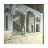 Toledo (Spain), Staircase of the Santa Cruz School Photographic Print by Levy et Fils, Leon
