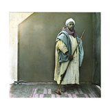 A Soldier of the Sultan, Tangier (Morocco), Circa 1885 Photographic Print by Levy et Fils, Leon
