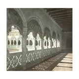Valladolid (Spain), the Gallery with Twisted Columns on the Patio of the Colegio De San Gregorio Photographic Print by Levy et Fils, Leon
