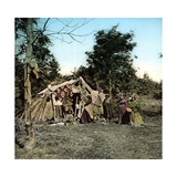 United States, Sioux Wigwams on the Pacific, 1900 Photographic Print by Levy et Fils, Leon