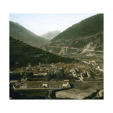 Panorama Taken from the Hautecour Road, Moutiers (Savoy, France), around 1900 Photographic Print by Levy et Fils, Leon