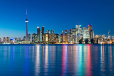 Night Scene of Downtown Toronto Photographic Print by  yanmingzhang