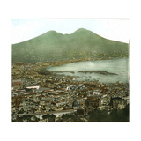 Naples (Italy), Panorama Taken from the Via Tasso Photographic Print by Levy et Fils, Leon
