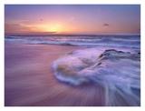 Sandy beach at sunset, Oahu, Hawaii Prints by Tim Fitzharris