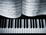 Piano with Music. Photographic Print by Adam Gault