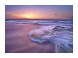 Sandy beach at sunset, Oahu, Hawaii Posters by Tim Fitzharris