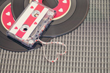 Cassette Tape Forming Heart Photographic Print by Isabelle Lafrance Photography