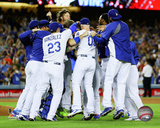 The Los Angeles Dodgers celebrate winning the 2014 National League West Division Photo