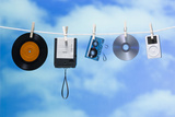 Media on a Clothesline Photographic Print by Rubberball/Mike Kemp