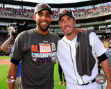 David Price & Joe Nathan celebrate winning the 2014 American League Central Division Photo