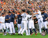 The Detroit Tigers celebrate winning the 2014 American League Central Division Photo