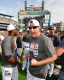 Max Scherzer celebrates the Detroit Tigers winning the 2014 American League Central Division Photo