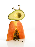 Papaya and Avocado Photographic Print by Tamara Staples