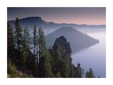 Wizard Island in the center of Crater Lake, Crater Lake National Park, Oregon Posters by Tim Fitzharris