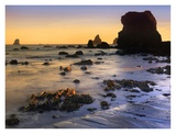 Lone Beach at sunset, Oregon Posters by Tim Fitzharris