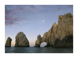 Moon over El Arco, Cabo San Lucas, Mexico Prints by Tim Fitzharris