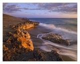 Beach at dusk, Blowing Rocks Preserve, Florida Art by Tim Fitzharris