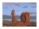 Moon over Balanced Rock, Arches National Park, Utah Prints by Tim Fitzharris