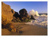 Waves crashing on Point Dume Beach, California Prints by Tim Fitzharris