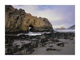 Sea arch at Pfeiffer Beach, Big Sur, California Poster by Tim Fitzharris