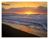 Sunset over Polihale Beach, Kauai, Hawaii Posters by Tim Fitzharris