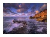 Surf crashing on rocks at Keoneloa Bay, Maui, Hawaii Poster by Tim Fitzharris