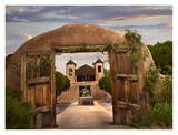 Church and gate, El Santuario de Chimayo, New Mexico Posters by Tim Fitzharris