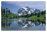 Mt Shuksan, northern Cascade Mountains, Washington Print by Tim Fitzharris