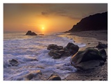 Sunset over Leo Carillo State Beach, Malibu, California Posters by Tim Fitzharris