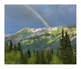 Rainbow over Brown Mountain, Colorado Poster by Tim Fitzharris