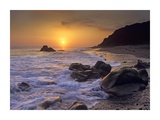 Sunset over Leo Carillo State Beach, Malibu, California Prints by Tim Fitzharris
