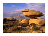 Balanced rocks, Guadalupe Mountain National Park, Texas Print by Tim Fitzharris