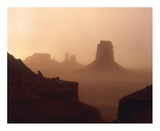 Sandstorm enshrouding mittens, Monument Valley, Arizona Posters by Tim Fitzharris