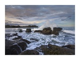 Surf hitting rocky coastline, Pelada Beach, Costa Rica Prints by Tim Fitzharris