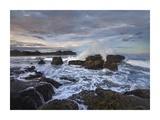 Surf hitting rocky coastline, Pelada Beach, Costa Rica Prints by Tim Fitzharris