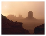 Sandstorm enshrouding mittens, Monument Valley, Arizona Prints by Tim Fitzharris