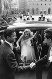 Anthony Steel and Anita Ekberg During their Wedding Day Reproduction photographique par Mario de Biasi