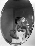 Sophia Loren Looking Herself in the Mirror Photographic Print by Mario de Biasi