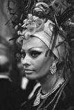 Sophia Loren Attending a Social Event in Monte Carlo Photographic Print by Mario de Biasi