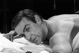 Sean Connery in Bed in a Scene from the Movie Thunderball Photographic Print by Mario de Biasi