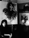 Anna Magnani in the Living Room of Her Roman Villa Fotografisk trykk av Marisa Rastellini