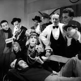 Group Theatre Scene Reproduction photographique par Mario de Biasi