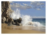 Lover's Beach with crashing waves, Cabo San Lucas, Mexico Art by Tim Fitzharris