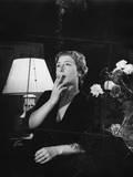 Lilla Brignone Smokes a Cigarette Photographic Print by Mario de Biasi
