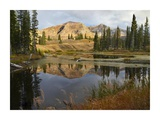 Ruby Range reflected in pond, Raggeds Wilderness, Colorado Print by Tim Fitzharris