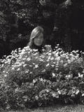 The Singer Franacoise Hardy in the Gardens of Milan Photographic Print by Mario de Biasi