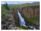 North Clear Creek Waterfall cascading down cliff, Colorado Prints by Tim Fitzharris