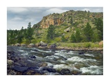 Rapids with cliffs above Cache La Poudre River, Colorado Prints by Tim Fitzharris