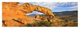 Panorama of Sunset Arch, Escalante National Monument, Utah Posters by Tim Fitzharris